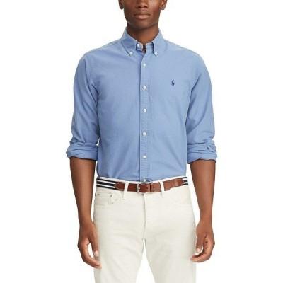 ラルフローレン メンズ シャツ トップス Big & Tall Solid Garment-Dye Oxford Long-Sleeve Woven Shirt Bastille Blue