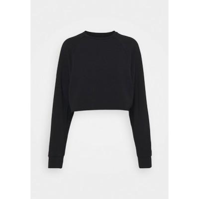 エブンアンドオッド パーカー・スウェットシャツ レディース アウター Cropped lightweight - Sweatshirt - black