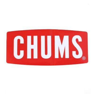 CHUMS チャムス Sticker CHUMS Logo Large ステッカーチャムスロゴラージ 11.2×25.0cm アウトドア キャンプ BBQ CH62-1058