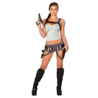 トゥームレイダー ララ クロフト コスチューム コスプレ ゲーム キャラクター 仮装 衣装 レディース 大人 女性