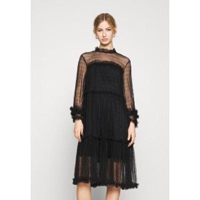 ヤス レディース ワンピース トップス YASALORA DRESS - Day dress - black black