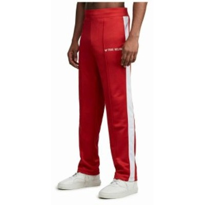 Religion  ファッション パンツ True Religion Mens Activewear Track Pants in Ruby Red/White