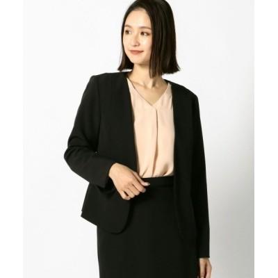 MEW'S REFINED CLOTHES / ウォッシャブルノーカラージャケット WOMEN ジャケット/アウター > テーラードジャケット