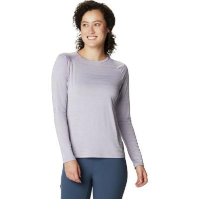 マウンテンハードウェア Mountain Hardwear レディース 長袖Tシャツ トップス Mighty Stripe Long - Sleeve T - Shirt Frost Grey
