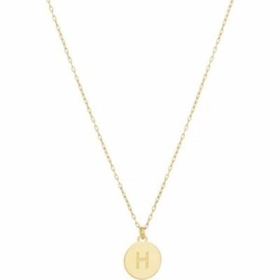 ケイト スペード Kate Spade New York レディース ネックレス ジュエリー・アクセサリー H Mini Pendant Necklace Gold