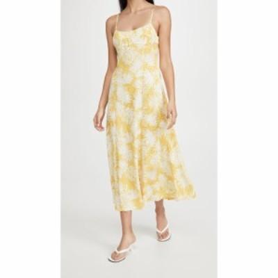 レベッカ テイラー Rebecca Taylor レディース ワンピース ワンピース・ドレス Palmetto Fleur Ruched Long Dress Sunflower Combo