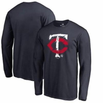 Fanatics Branded ファナティクス ブランド スポーツ用品  Fanatics Branded Minnesota Twins Navy Splatter Logo Long