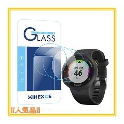 【3枚入り】 Mihence Compatible (ガーミン) Garmin ForeAthlete 45 / ForeAthlete 45S 保護フィルム, 9H ガラス保護フィルム 対応