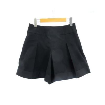 【中古】トゥービーシック TO BE CHIC ショートパンツ キュロットスカート 黒 ブラック 40 M RRR レディース 【ベクトル 古着】