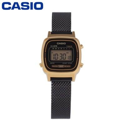 CASIO カシオ カシオスタンダード レディース クオーツ デジタル メタル メッシュ ブラック ゴールド LA670WEMB-1