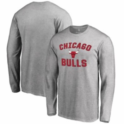 Fanatics Branded ファナティクス ブランド スポーツ用品  Chicago Bulls Gray Victory Arch Long Sleeve T-Shirt