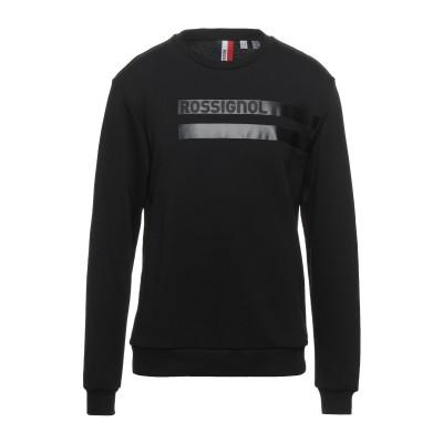 ロシニョール ROSSIGNOL スウェットシャツ ブラック L コットン 80% / ポリエステル 20% スウェットシャツ