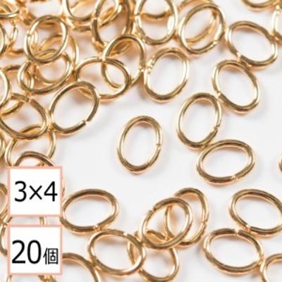 【サージカルステンレス 316L 】Cカン ゴールド 3×4mm 20個 ステンレス パーツ 金属アレルギー対策 アクセサリーパーツ