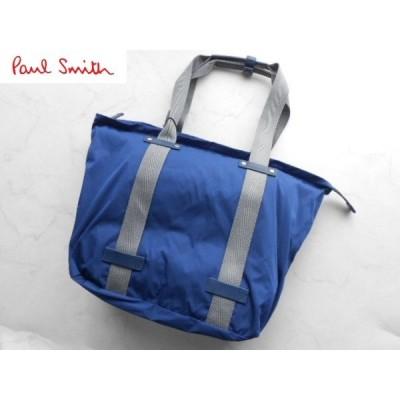 ポールスミス 上質ハンドバッグ ブルー