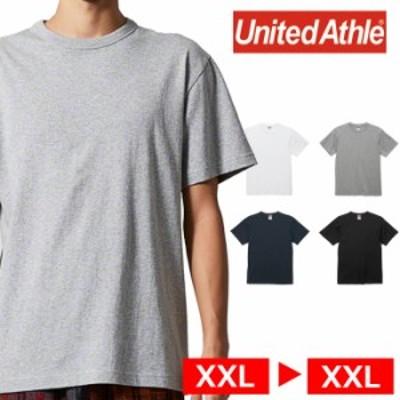 Tシャツ 半袖 メンズ バインダーネック ヘビー オープンエンド 6.0oz XXL サイズ ブラック ビック 大きいサイズ ユナイテッドアスレ CAB