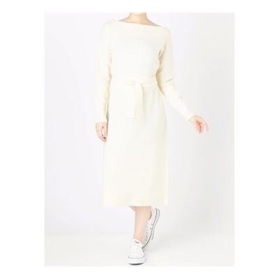 COTORICA. 【WOMEN】AcNy起毛ワンピ(ホワイト)