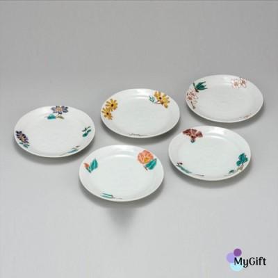 九谷焼 5.2号皿揃 花ごよみ K6-93 ギフト 鉢 小鉢 中鉢 和食器 小皿 豆皿 贈り物 結婚祝い 内祝い お返
