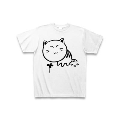 ごろにゃん歩けば幸せに当たる Tシャツ(ホワイト)