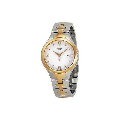 腕時計 Tissot T12 シルバー ダイヤル ツートン ステンレス スチール レディース 腕時計 T0822102203800