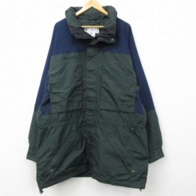 古着 長袖 ナイロン ジャケット 00年代 00s コロンビア COLUMBIA 大きいサイズ ツートンカラー 緑他 グリーン XLサイズ 中古 メンズ アウ