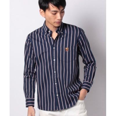 【ヴァン】 ボタンダウンシャツ<アイビーストライプ> メンズ ネイビー XL VAN