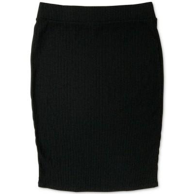 バースリー スカート ボトムス レディース Ribbed-Knit Pencil Skirt,  Deep Black