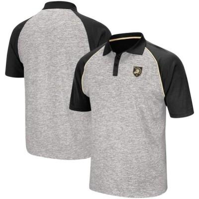 ユニセックス スポーツリーグ アメリカ大学スポーツ Army Black Knights Colosseum Rentaswag Raglan Polo - Heathered Gray ポロス