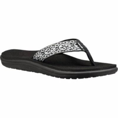 テバ ビーチサンダル Voya Flip Flop Companera Black/White Textile