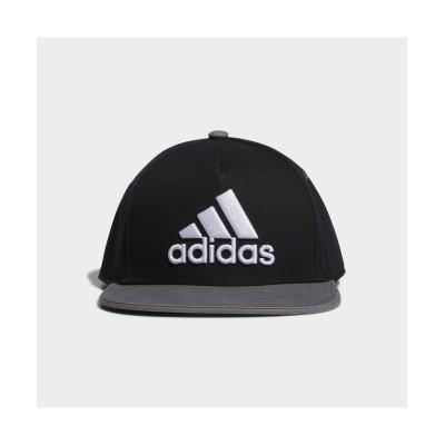 (adidas/アディダス)アディダス/キッズ/キッズフラットキャップ/ ブラック/ホワイト