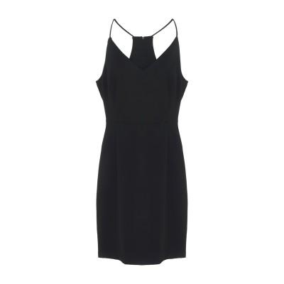 MINIMUM ミニワンピース&ドレス ブラック 38 ポリエステル 70% / レーヨン 28% / ポリウレタン 2% ミニワンピース&ドレス