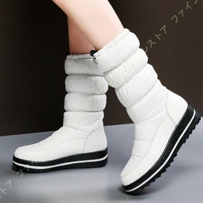 雪用ブーツ スノーブーツ ロングブーツ レディース 撥水加工 ウインターブーツ 防寒靴 防水 冬用長靴 防滑の綿靴 シンプル 耐久性抜群 防滑 コンフォート