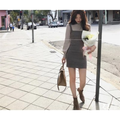 レビュー続々💗秋を楽しみしましょう!甘辛コーデならおまかせ 韓国ファッション トレンド ランタンスリーブ 縫付 シャツワンピ スリム シンプル エレガント カレッジ風 sweet系 細身 減齢