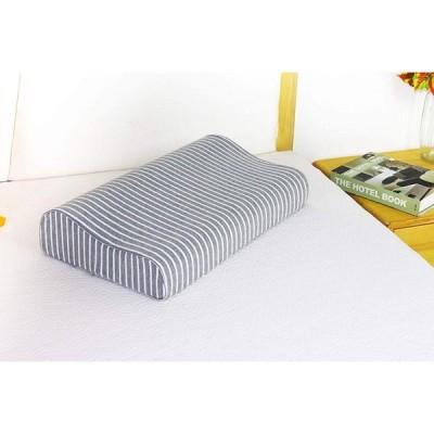 枕カバー 綿100% ニット素材 滑らか 柔らかい ブラウン 色褪せない 防ダニ 抗菌 防臭 (「低反発枕とジェル枕に対応」カバー)