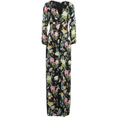 VILSHENKO ロングワンピース&ドレス ブラック 8 シルク 100% ロングワンピース&ドレス