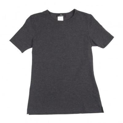 ワイズY's 混紡ストレッチTシャツ チャコール3 【レディース】