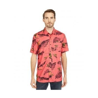 Volcom ヴォルコム メンズ 男性用 ファッション ボタンシャツ Floral Erupter Short Sleeve Button-Up - Lava Rock Red