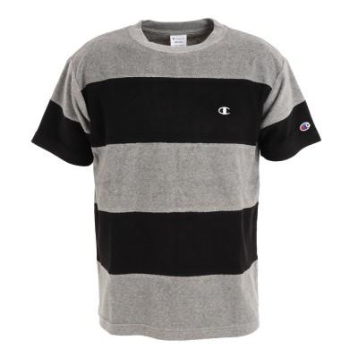 チャンピオン-ヘリテイジアウトドアパネルショートスリーブTシャツ C3-T302 090ブラック