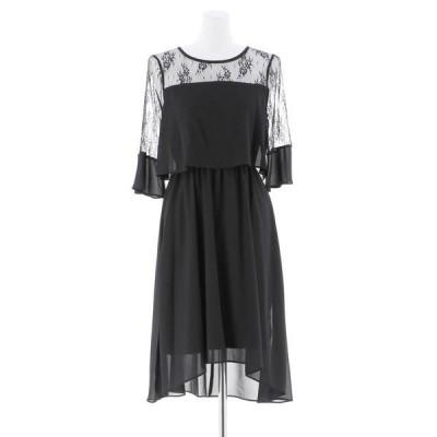 ドレス アンブレラスリーブイラヘムの結婚式お呼ばれオケージョンフォーマル対応ワンピースドレス