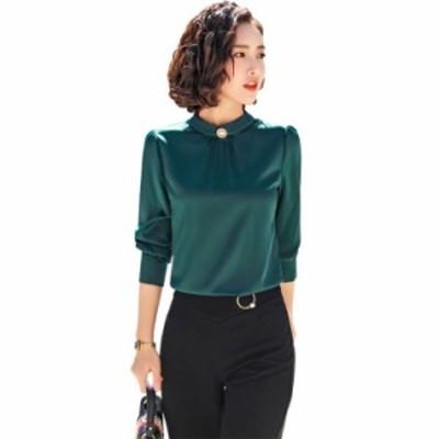 レディース  カジュアルシャツ  無地  シンプルなファッション  キレイめ  上質  着心地よい 人気 新作