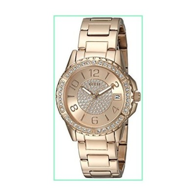 GUESS Women's U0779L3 Sporty Rose Gold-Tone Stainless Steel Multi-Function Watch with Date Dial and Pilot Buckle【並行輸入品】