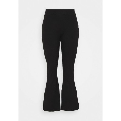 ヌー イン カジュアルパンツ レディース ボトムス HIGH WAIST FLARE LEGGINGS - Trousers - black