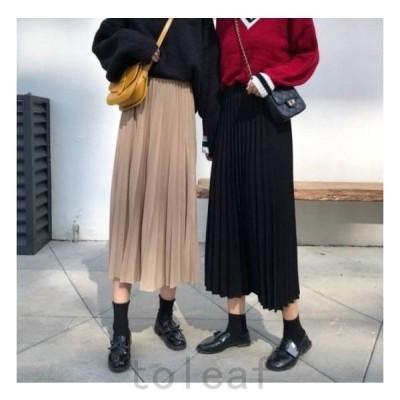 プリーツスカートプリーツスカートレディースファッションスカートボトムス大きいサイズ春スカート春韓国ファッションレディース新作_