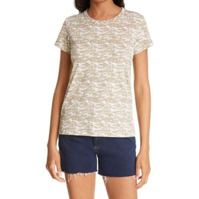 ラグ&ボーン RAG & BONE レディース Tシャツ トップス Camo Print Cotton T-Shirt Ivorymult