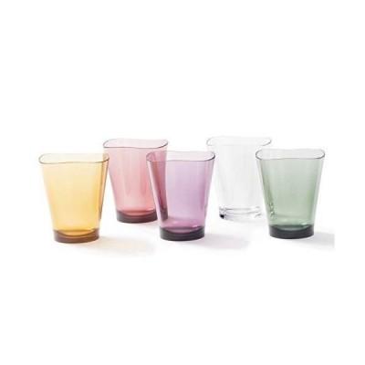 プラキラ(Plakira) ゆらぎ タンブラー グラス コップ 5色セット COLORS 240ml 5個セット 食洗機対応 耐熱100度