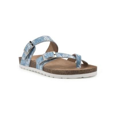 ホワイトマウンテン サンダル シューズ レディース Gracie Women's Footbed Sandals Light Blue, Leather