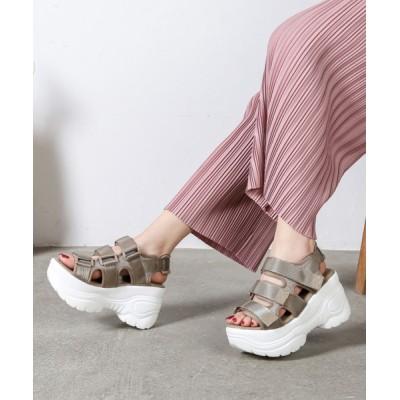 Shoes in Closet -シュークロ- / ☆超軽量☆ベルクロベルト厚底スポーツサンダル《約9.0㎝ソール》 7472WB WOMEN シューズ > サンダル