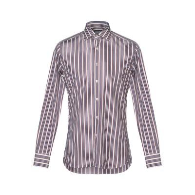 XACUS シャツ ディープパープル 38 コットン 100% シャツ