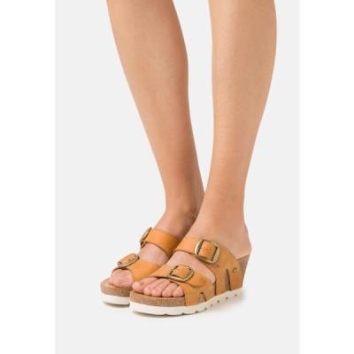 レディース 靴 シューズ VALENTINA GRASS - Heeled mules - vintage