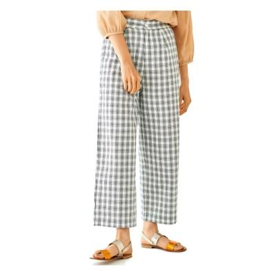 【フラワー/flower】 freely check pants ~フリーリーチェックパンツ