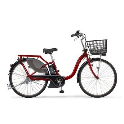 ヤマハ(YAMAHA) 電動アシスト自転車 PAS With SP PA24WSP ダークメタリックレッド